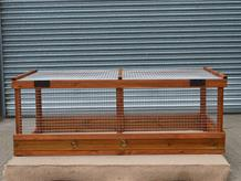 Freestanding poultry run 6' x 3' x 26""