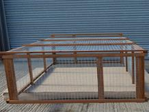 Freestanding poultry run 9' x 6' x 26""