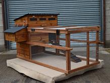 Dovedale raised poultry house with run