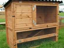 Rabbit penthouse hutch two storey with ramp
